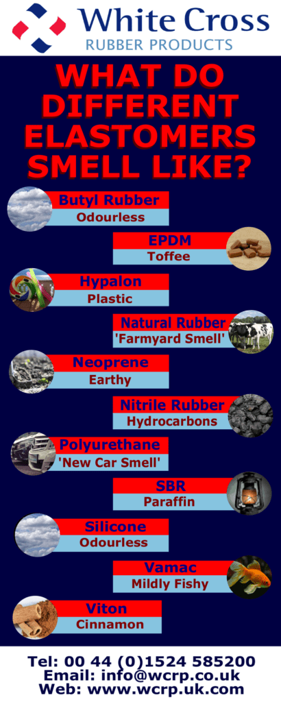 What do different elastomers smell like