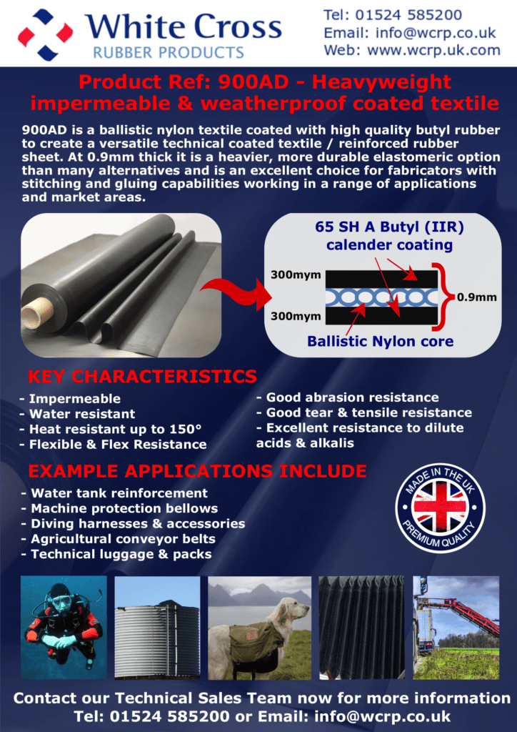 Versatile Rubber Coated Sheeting